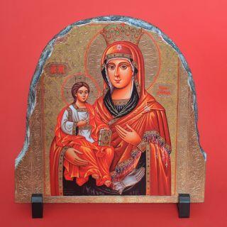 ИКОНА Света Богродица нарисувана на камък