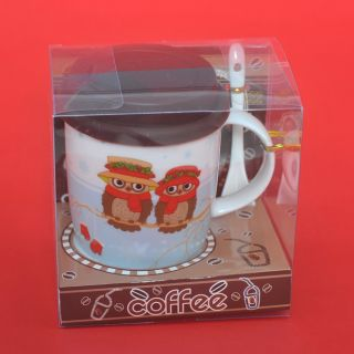 Сувенир ,керамична чаша за кафе ,бухалче