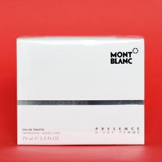 Mont Blanc Presence D'Une Femme EDT 75ml !